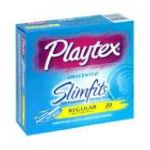 Playtex feminie care - Comfortable Plastic Applicator Tampons 20 tampons 0068875015512  / UPC 068875015512