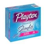 Playtex feminie care - Comfortable Plastic Applicator Tampons 20 tampons 0068875015529  / UPC 068875015529