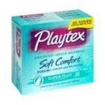 Playtex feminie care - Comfortable Plastic Applicator Tampons 20 tampons 0068875015376  / UPC 068875015376