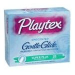 Playtex feminie care - Gentle Glide Unscented Super Plus Absorbency Tampons 20 20 tampons 0078300086567  / UPC 078300086567