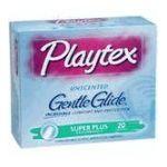 Playtex feminie care - Gentle Glide Unscented Super Plus Absorbency Tampons 20 20 tampons 0078300086567  / UPC 078300086567