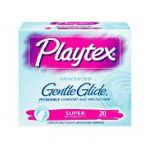 Playtex feminie care - Gentle Glide Unscented Super Absorbency Tampons 20 20 tampons 0078300086765  / UPC 078300086765