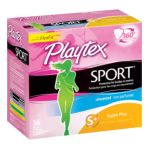 Playtex feminie care - Sport Tampons Plastic Applicator Unscented 0078300081364  / UPC 078300081364
