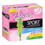 Playtex feminie care - Sport Multi-pack Light Regular Super Unscented Plastic Tampons 36 tampons 0078300084013  / UPC 078300084013