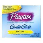 Playtex feminie care - Unscented Gentle Glide Regular Tampons 16 tampons 0078300086703  / UPC 078300086703