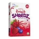 Plum Organic - Organic Fruit Shredz Real Fruit Snacks Berry'licious 0846675002044  / UPC 846675002044