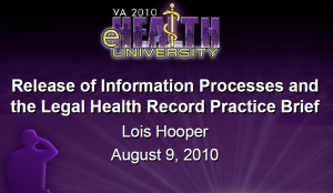 "If you are suing the VA for medical malpractice you need to understand how the VA""s electronic record system works"