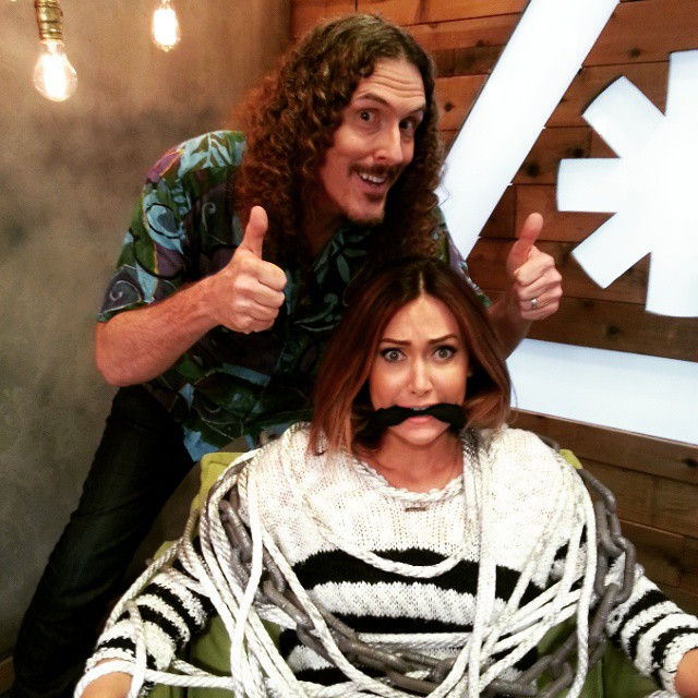 Tomorrow, #NerdistNews gets weird... really weird. Tune in, as @alfredyankovic kidnaps @jessica_chobot and takes over the show!!!