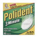 Polident - 3-minute Denture Cleanser Tablets 84 0310158053088  / UPC 310158053088
