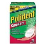 Polident - Antibacterial Denture Cleanser For Smokers-78 Ct 78 tablet 0310158320784  / UPC 310158320784