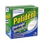 Polident - Overnight Tablets Denture Cleanser 0010158034031  / UPC 010158034031