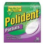 Polident - Partials Denture Cleanser Tablets 0310158033035  / UPC 310158033035