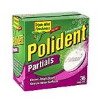 Polident - Partials Tablets Denture Cleanser 0010158033034  / UPC 010158033034