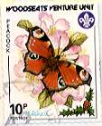 Sheffield Scout Stamp 1987 Peacock Butterfly.