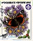 Sheffield Scout Stamp 1987 Red Admintal Butterfly.
