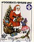 Sheffield Scout Stamp 1988 Father Christmas & tree.