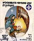 Sheffield Scout Stamp 1989 Away in a manger, no crib for a bed