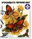 Sheffield Scout Stamp 1987 Copper Butterfly.