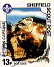 Sheffield Scout Stamp 1991 Anglo-Soviet space mission Return Capsule