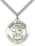 Image of St. Michael Pendant (Sterling Silver)