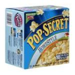 Pop-Secret - Popcorn Homestyle Snack Size 10-count Packages 0016000227507  / UPC 016000227507