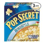 Pop-Secret - Pop Secret Snack Size Homestyle Microwavable Popcorn 0023896227504  / UPC 023896227504
