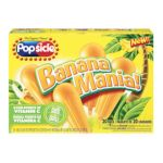 Popsicle - Banana Mania Ice Pops 0077567168924  / UPC 077567168924