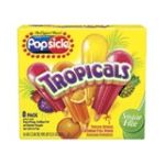 Popsicle - Tropicals Sugar Free Orange Caribbean Fruit Punch Hawaiian Pineapple Ice Pops 0077567143501  / UPC 077567143501