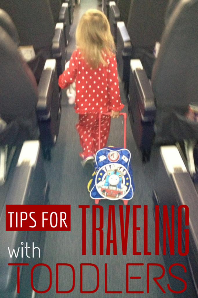 Tips for traveling with toddlers. Tips for car trips and plane rides. How to keep your toddler busy while traveling.