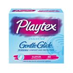 Playtex feminie care - Gentle Glide Unscented Super Absorbency Tampons 40 40 tampons 0078300086512  / UPC 078300086512