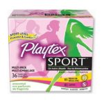 Playtex feminie care - Sport Tampons Multi-pack Unscented 0078300099338  / UPC 078300099338