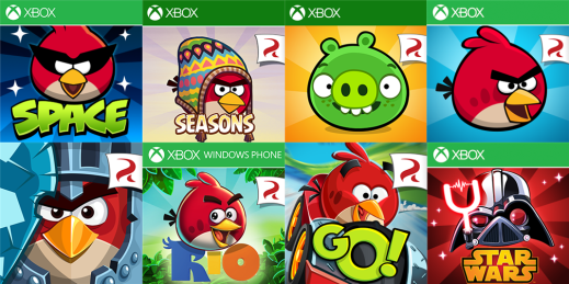 Angry Birds all title free for Windows Phone