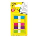 Post-it - Post-it Flags with On-the-Go Dispenser, Assorted Bright Colors, 1/2-Inch Wide, 100/Dispenser, 1-Dispenser/Pack 3134375317085