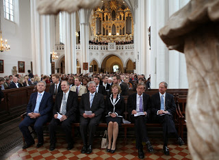 President Gauck and Ambassador Emerson at St. Mary's memorial service