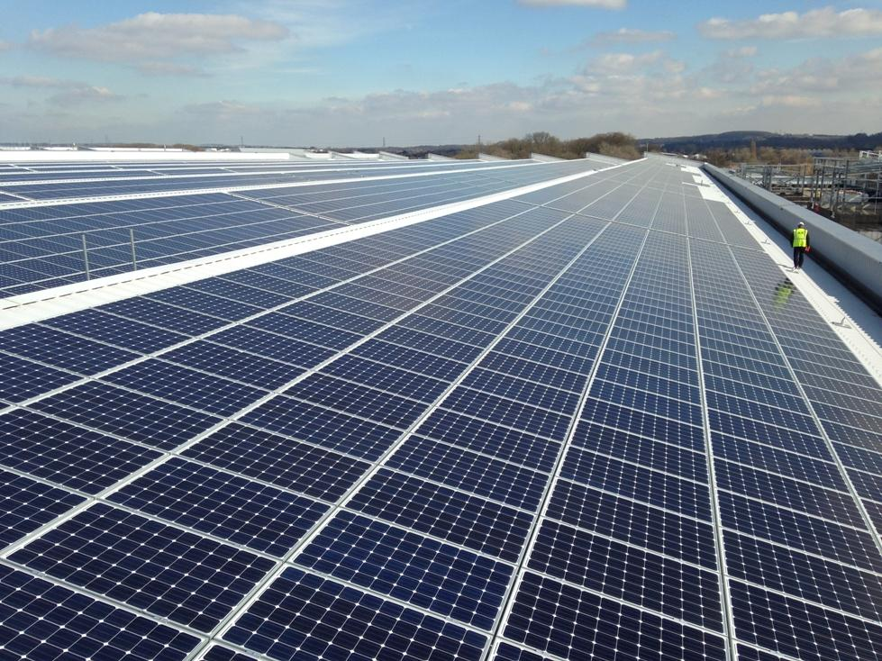 The Largest Rooftop Solar Panel Array in the UK