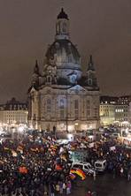 Dresden Armageddon 70 years on: the shadow of extremism hangs over the birthplace of the Pegida - a city once devastated by Allied bombing during WWII