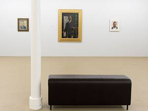 13 February 2015: A view of self-Portraits (L-R) of Dutch artist Vincent Van Gogh (1887), Swiss Arnold Boecklin (1893) and Swiss Ferdinand Hodler (1912) on display in the exhibition 'Cezanne to Richter - Masterpieces from the Kunstmuseum Basel' in the Museum fuer Gegenwartskunst (Museum of Contemporary Art) in Basel, Switzerland. As the main building of the Kunstmuseum Basel closes on February 2015 for a year of renovations, the museum launches a program of exhibitions, primarily at the Museum fuer Gegenwartskunst