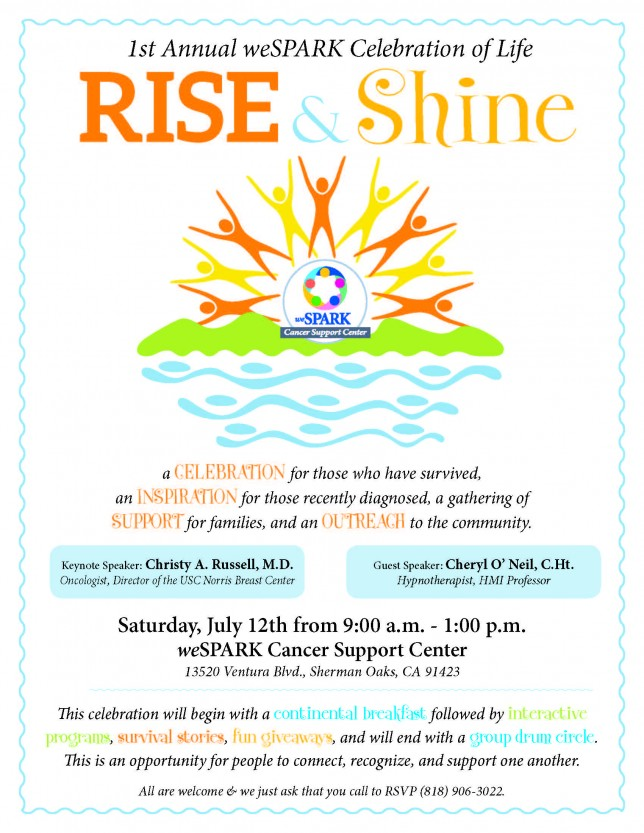 weSPARK Rise and Shine Flyer