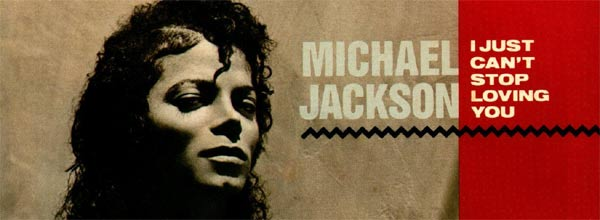 Michael Jackson I Just Can't Stop Loving You Single Cover