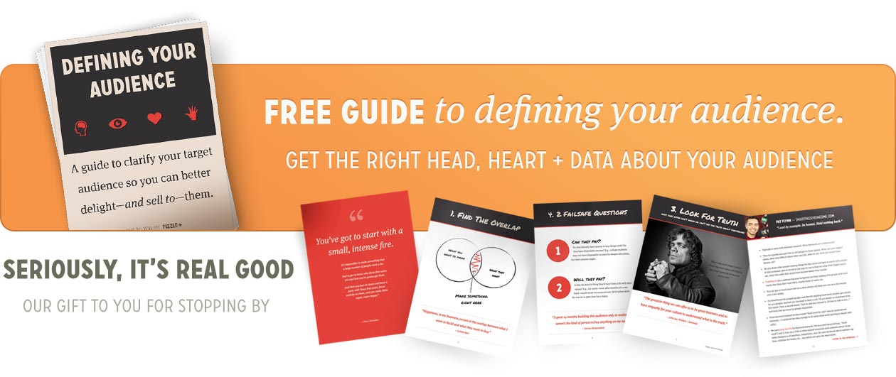 Get the free guide to defining your audience