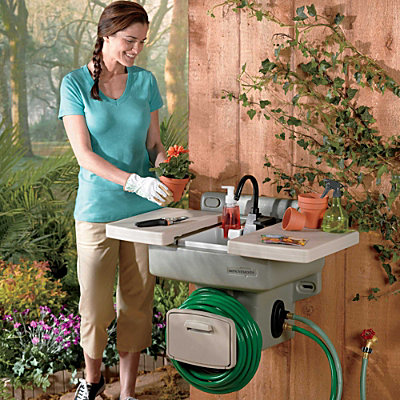 All About The Convenience Of Outdoor Garden Sink Station