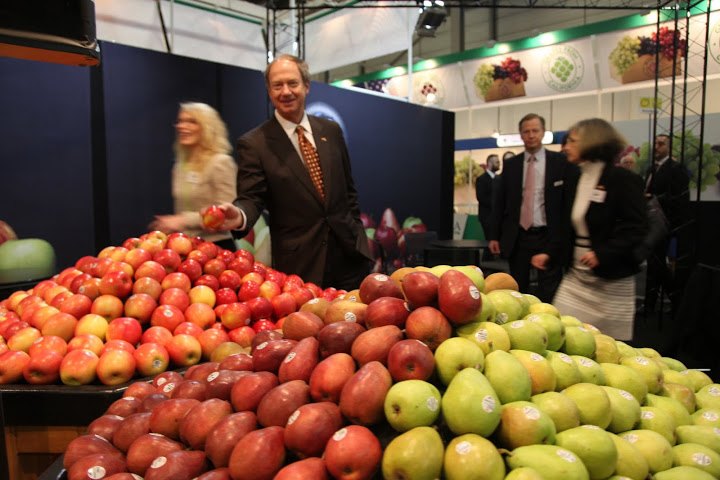 Ambassador Emerson, apples and pears