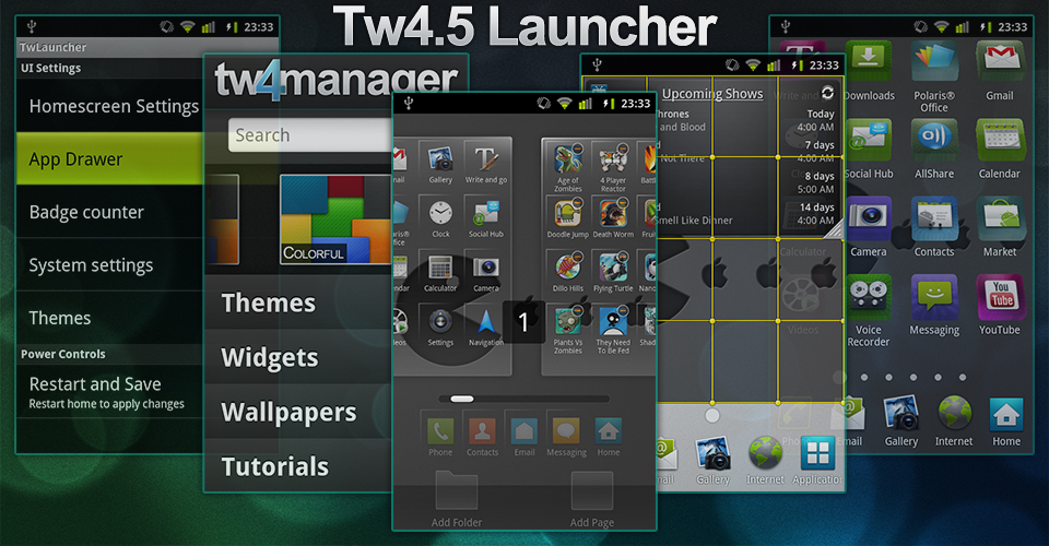 TW Launcher 4.5 v2.3.5 Hacked TouchWiz 4 launcher