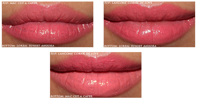 DUPE 11 |  Lancome Rouge in Love em Corail in Love