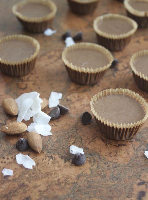 almond joy fudge bites