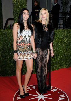 Madonna and child.  Lourdes Leon and Madonna arrive at the Vanity Fair Oscar party hosted by Graydon Carter held at Sunset Tower on February 27, 2011 in West Hollywood, California. Photo: Pascal Le Segretain, Getty Images / 2011 Getty Images