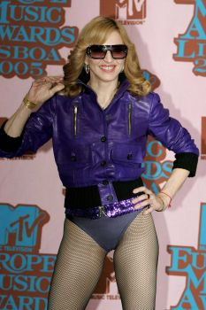 Another '70s-inspired look. Madonna poses in the Awards Room at the 12th annual MTV Europe Music Awards 2005 at the Atlantic Pavilion on November 3, 2005 in Lisbon, Portugal. Photo: Gareth Cattermole, Getty Images For MTV / 2005 Getty Images