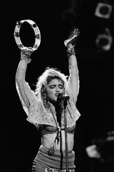 "Madonna performs on ""The Virgin Tour""  at Radio City Music Hall in New York City, June 6, 1985. Photo: Frank Micelotta, Getty Images / Getty Images North America"