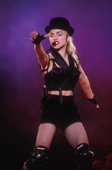 Madonna's Blond Ambition tour was filled with iconic looks. Here, she performs in Tokyo, Japan, on April 4, 1990. Photo: Frank Micelotta, Getty Images / Getty Images North America
