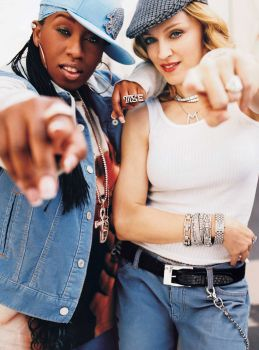 "Singers Madonna and Missy Elliott appear for Gap's fall TV campaign set to ""Into the Hollywood Groove,"" a new remix by the two singers, in 2003. Photo: The Gap, Getty Images / The Gap"